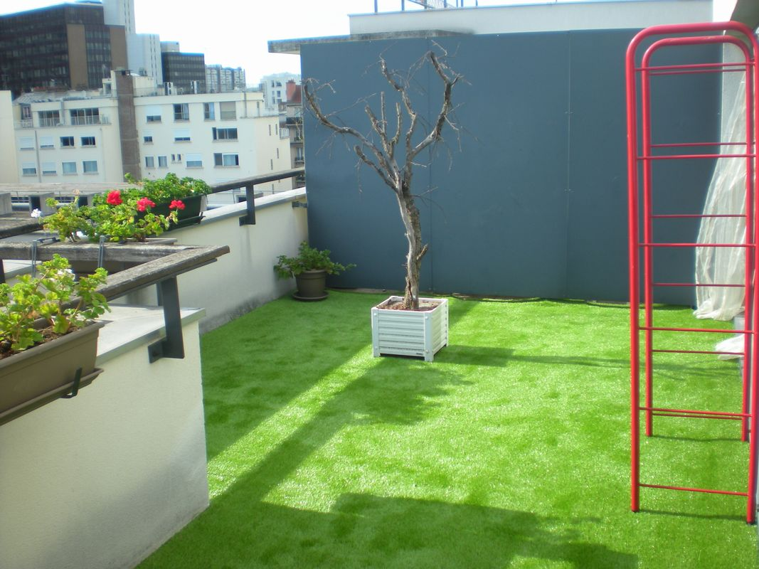 Gazon Synthetique Sur Terrasse Carrelage Hep