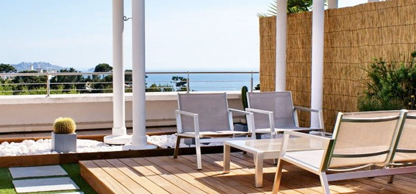 Terrasse balcon design nos conseils for Agencement jardin exterieur
