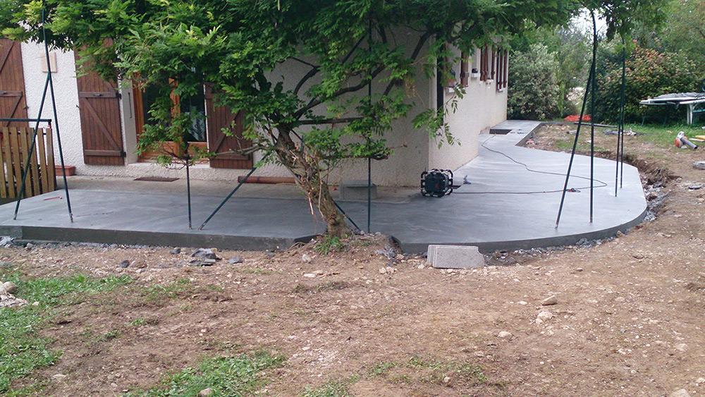 Terrasse bois sur plots ciment - Plot terrasse beton ...