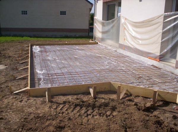 Terrasse beton coffrage nos conseils - Dosage beton pour terrasse ...