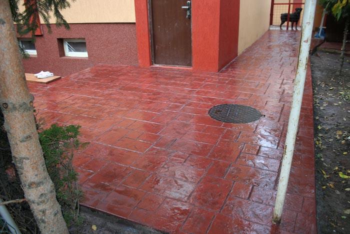 Terrasse beton imprime 44 nos conseils - Pochoir beton exterieur ...