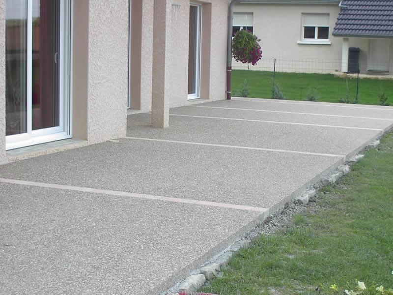 terrasse beton maison nos conseils. Black Bedroom Furniture Sets. Home Design Ideas