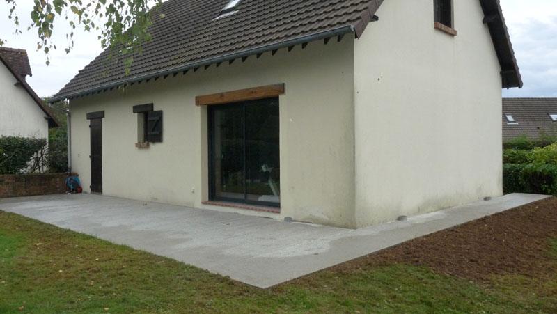 Terrasse beton maison neuve nos conseils for Concevez votre propre maison neuve