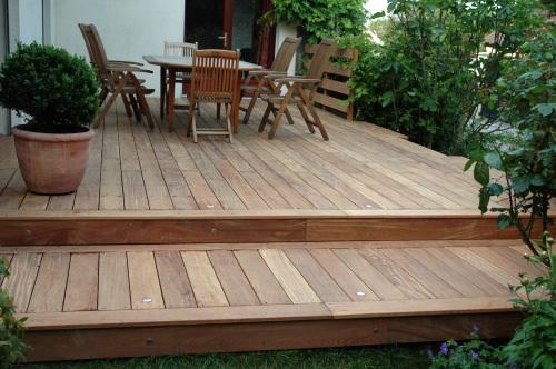 Terrasse bois 2 niveaux