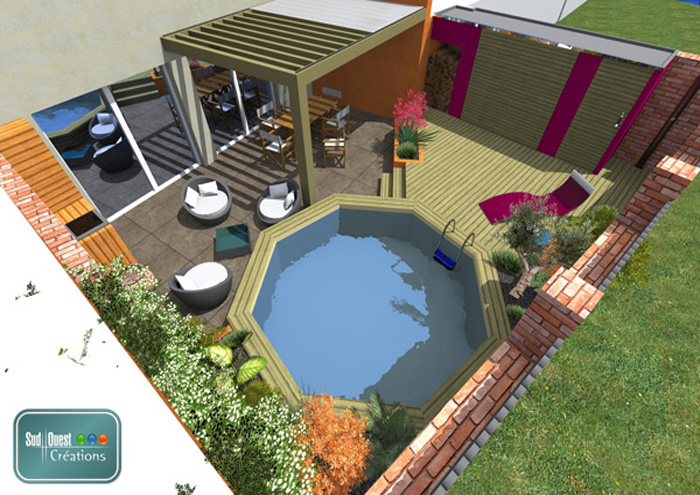 Patio piscine plan patio plus patio piscine patio - Nettoyer piscine hors terre ...