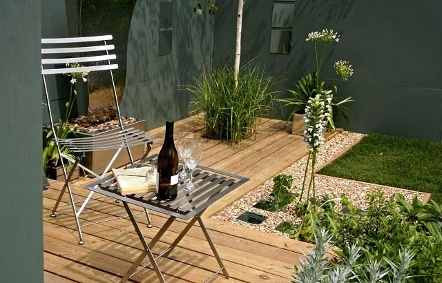 Amenagement Terrasse En Bois Lampadaire Design Pour Amenagement