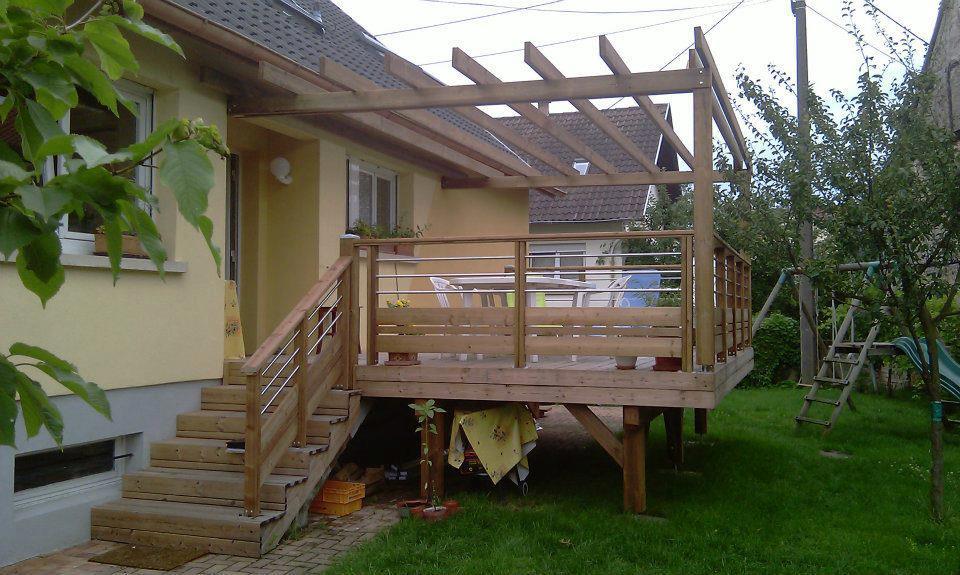 terrasse bois avec pergola chauffage pour pergola terrasse bois avec pergola amnagement. Black Bedroom Furniture Sets. Home Design Ideas