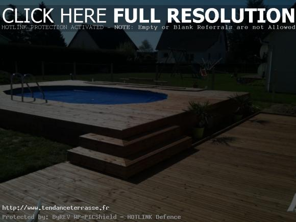 terrasse bois autour d une piscine hors sol - Terrasse En Bois Autour D Une Piscine Hors Sol