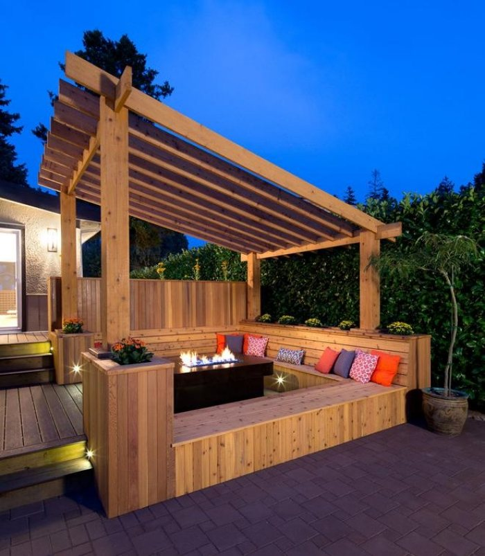 terrasse bois avec pergola nos conseils. Black Bedroom Furniture Sets. Home Design Ideas
