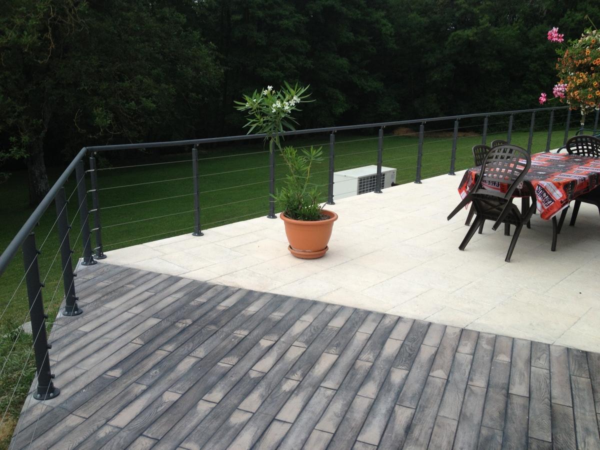terrasse bois beton nos conseils. Black Bedroom Furniture Sets. Home Design Ideas