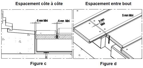 Terrasse bois ecart entre lames  Nos Conseils
