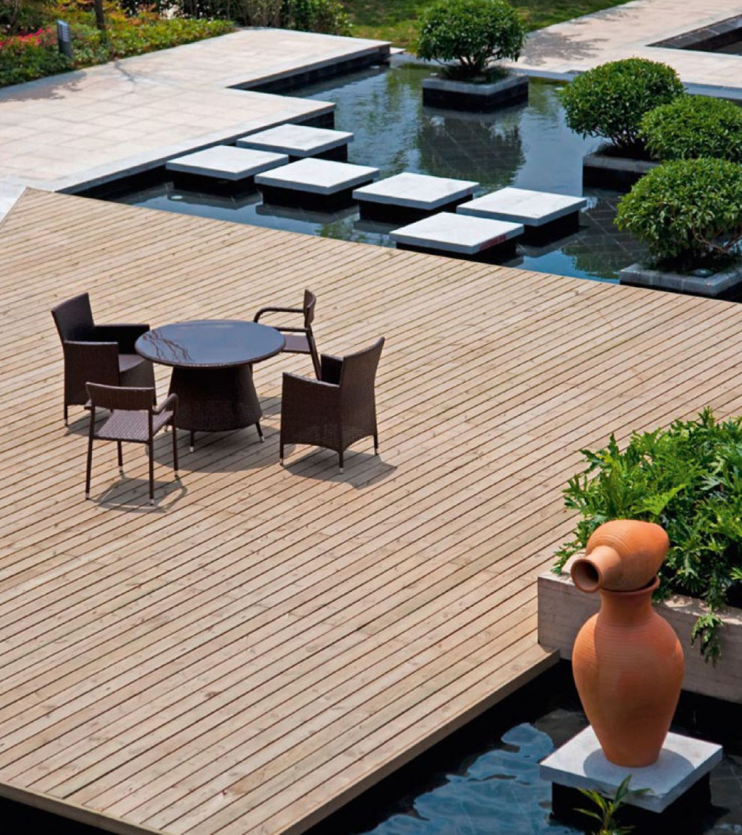 terrasse bois echarde nos conseils. Black Bedroom Furniture Sets. Home Design Ideas