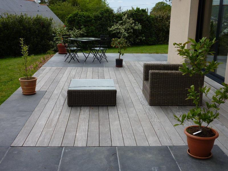 Terrasse bois et pierre  Nos Conseils