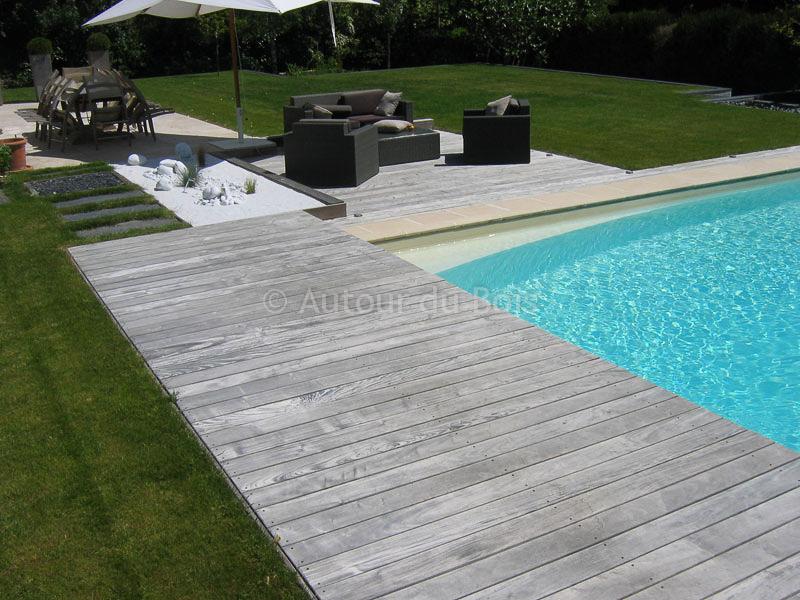 Terrasse bois grisee nos conseils for Piscine bois gris