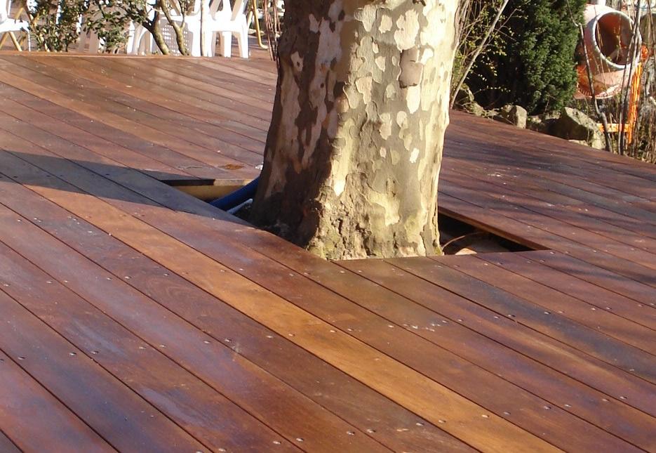 Terrasse bois merbau nos conseils for Plancher teck exterieur