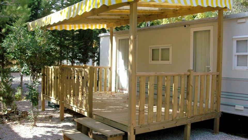 Terrasse bois mobil home occasion