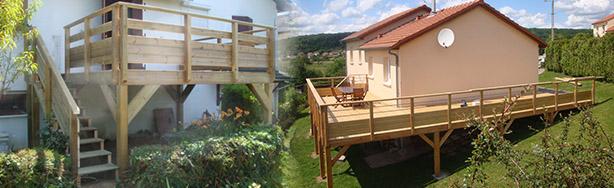 Terrasse Bois Pilotis Lorraine Nos Conseils - Terrasse sur pilotis en bois