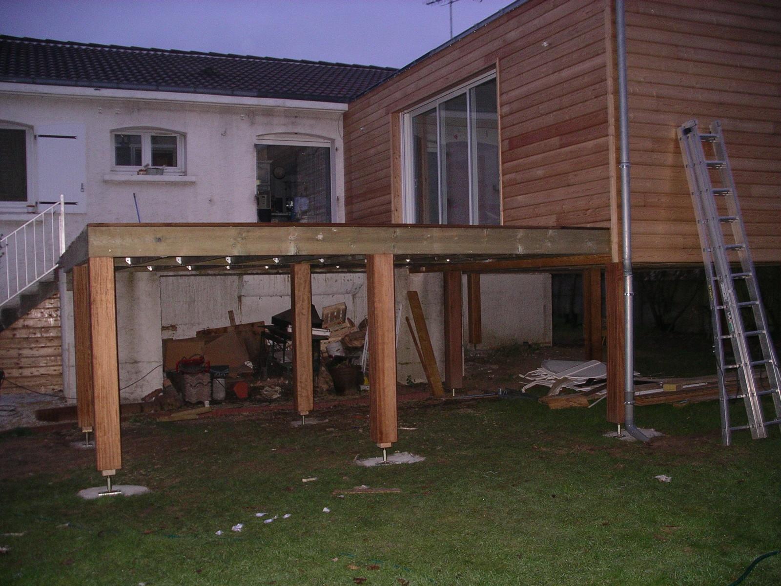 terrasse bois pilotis prix