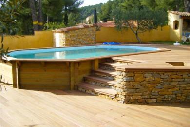 Terrasse bois piscine hors sol