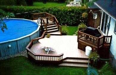 terrasse bois piscine hors terre