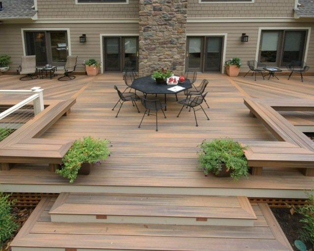 terrasse bois plusieurs niveaux nos conseils. Black Bedroom Furniture Sets. Home Design Ideas