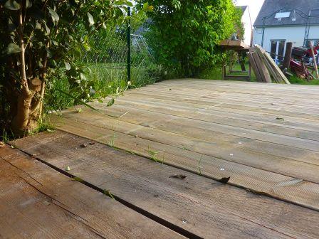 terrasse bois recup