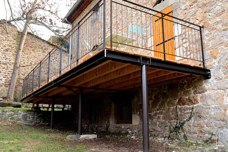 de page crédits photos terrasse bois sur pilotis permis de construire