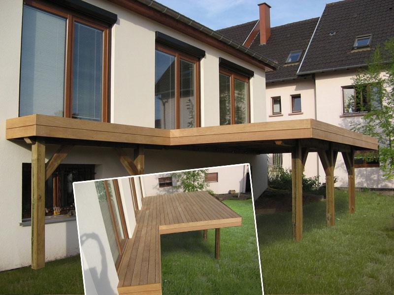 terrasse bois sur pilotis prix