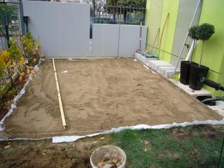 Terrasse bois sur sable nos conseils - Terrasse dalle sur lit de sable ...