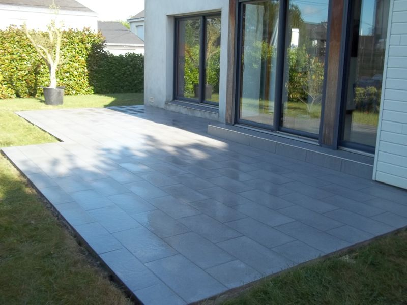 Affordable Terrasse Carrelage X With Pose De Carrelage Terrasse Exterieur