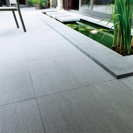 Terrasse carrelage exterieur gris