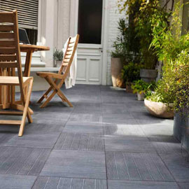 Terrasse carrelage gris anthracite nos conseils for Photo terrasse carrelage gris