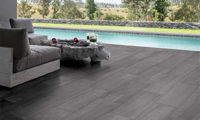 terrasse carrelage gris id es de design. Black Bedroom Furniture Sets. Home Design Ideas