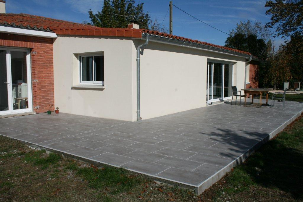 Amazing Terrasse Carrelage Pente Nos Conseils For Joint De Terrasse  Exterieure With Carreler Une Terrasse Extrieure.