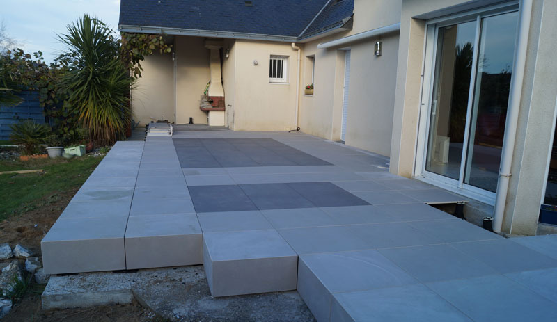 Modele De Terrasse Extrieure En Carrelage Affordable Good Bricolage