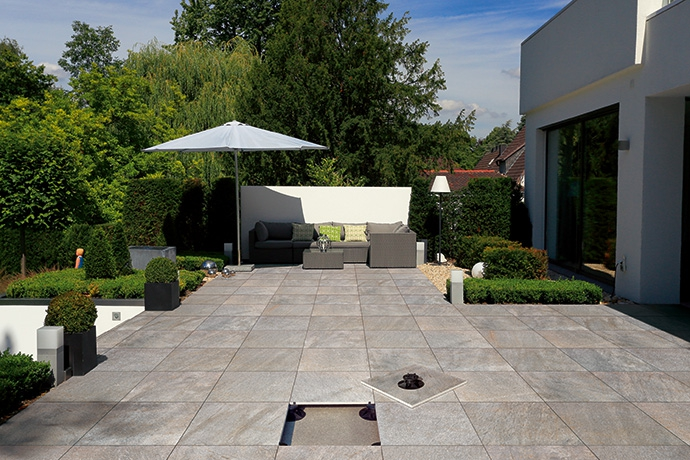 Bois Sur Plot  Cr?dits photos Terrasse carrelage sur plots reglables