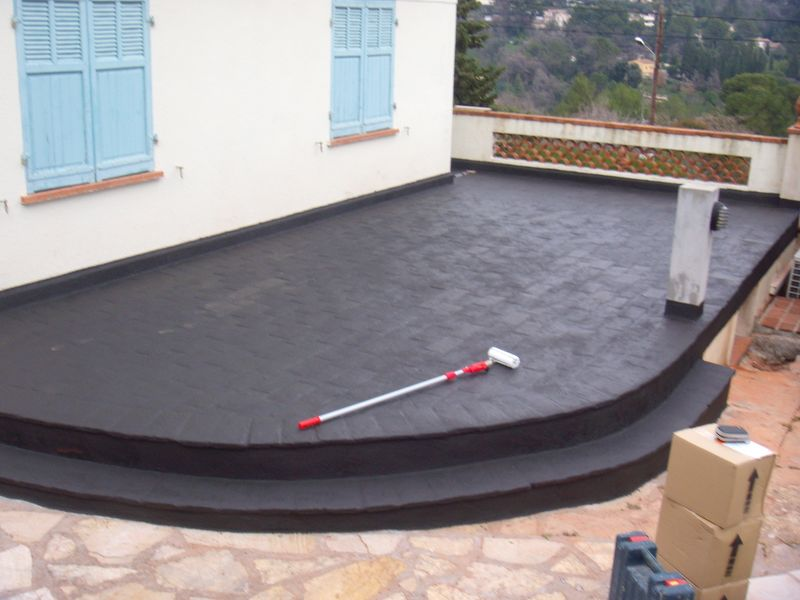 Rendre tanche une terrasse carrel e rev tements for Carreler terrasse beton