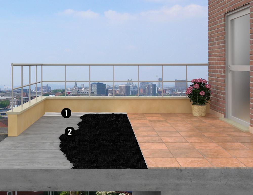 terrasse carrelee etanche nos conseils. Black Bedroom Furniture Sets. Home Design Ideas