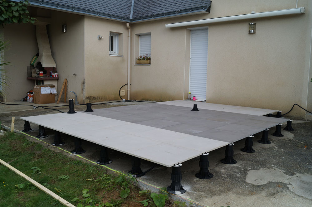 Terrasse carrelee sans dalle nos conseils - Exemple de terrasse carrelee ...