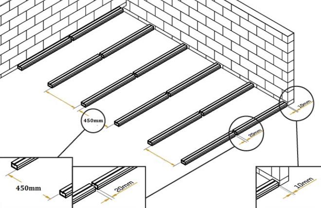 Finest Terrasse Composite Espacement Lambourdes With Terrasse Composite Pose