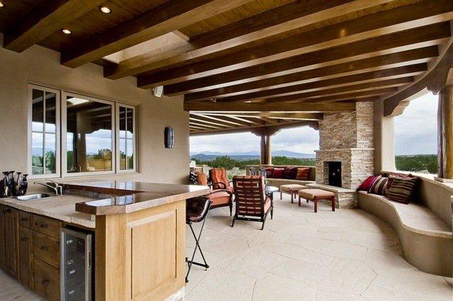 Terrasse couverte avec muret nos conseils - Terrasse avec muret ...