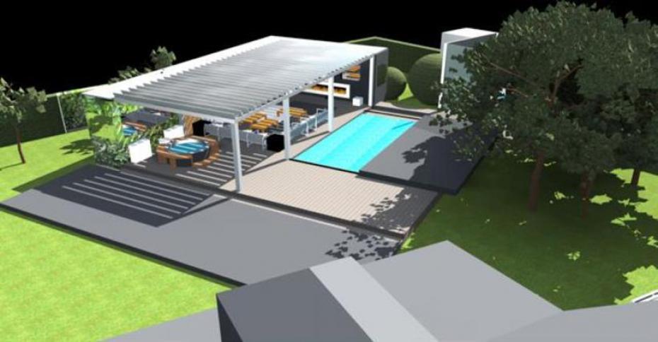 Terrasse couverte avec piscine nos conseils for Piscine hors sol couverte