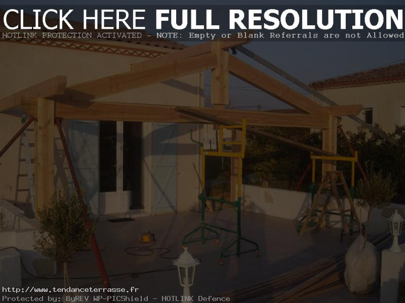 Terrasse couverte bois
