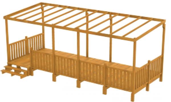 Construire terrasse couverte mobil home - Mailleraye.fr jardin