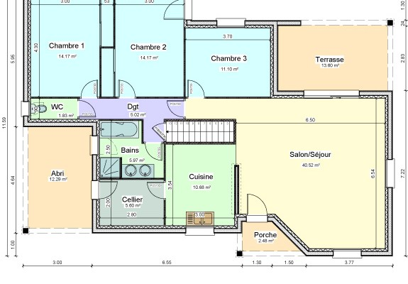 Plan maison terrasse couverte for Plans pour ma maison
