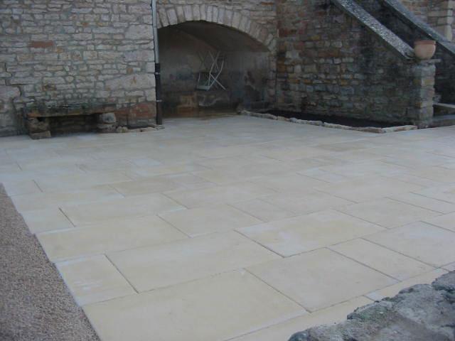 Terrasse dallage pierre nos conseils - Dalle pierre terrasse ...
