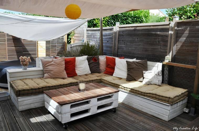 Terrasse de jardin en palette - Nos Conseils