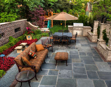 Terrasse de jardin en pierre - Nos Conseils