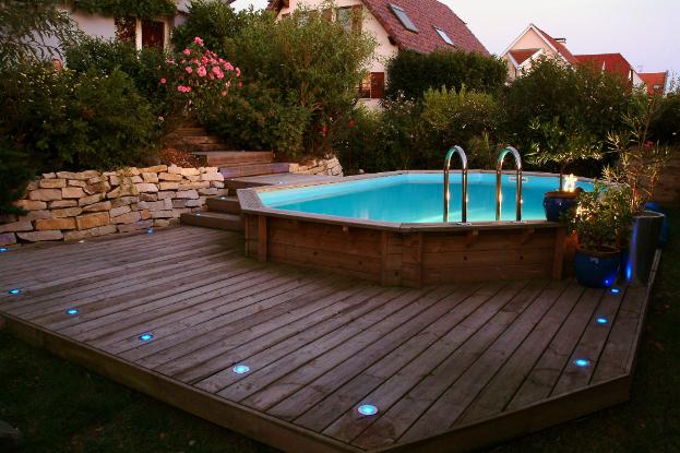 terrasse en bois autour piscine hors sol - Terrasse En Bois Autour D Une Piscine Hors Sol