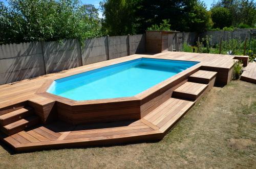 Terrasse en bois et piscine hors sol nos conseils for Conseil piscine hors sol